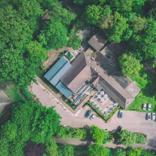 Restaurant in bosrijke omgeving